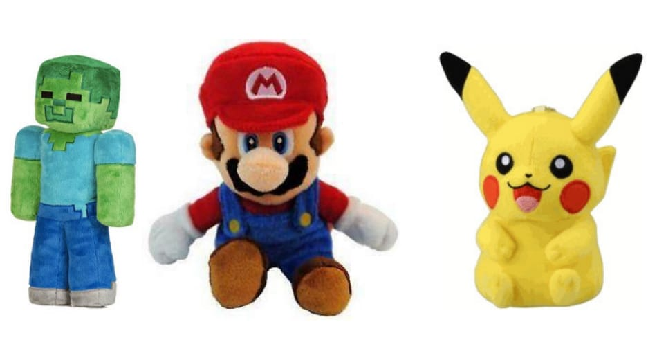 Deals on Minecraft, Mario and Pokemon plush toys